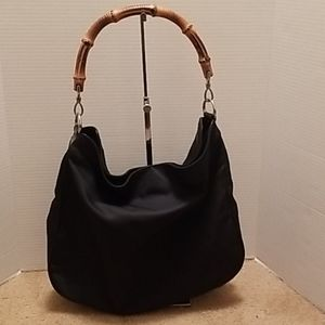 Gucci Bamboo Nylon and Leather Tote